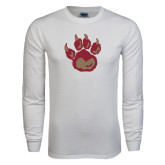 White Long Sleeve T Shirt-Paw