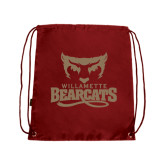 Nylon Cardinal Drawstring Backpack-Primary Logo
