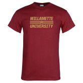 Cardinal T Shirt-Stacked Willamette