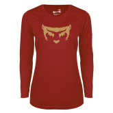 Ladies Syntrel Performance Cardinal Longsleeve Shirt-Mascot