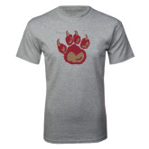 Grey T Shirt-Paw
