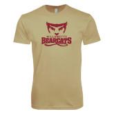 Next Level SoftStyle Khaki T Shirt-Primary Logo