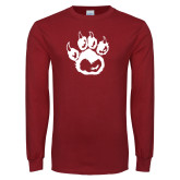 Cardinal Long Sleeve T Shirt-Paw