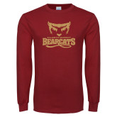 Cardinal Long Sleeve T Shirt-Primary Mark Distressed