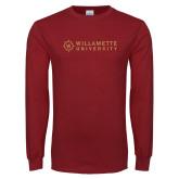 Cardinal Long Sleeve T Shirt-University Flat Mark