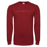 Cardinal Long Sleeve T Shirt-Willamette University