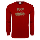 Cardinal Long Sleeve T Shirt-Primary Logo Distressed