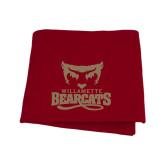 Cardinal Sweatshirt Blanket-Primary Logo