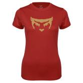 Ladies Syntrel Performance Cardinal Tee-Mascot