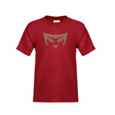 Youth Cardinal T Shirt-Bearcat Face