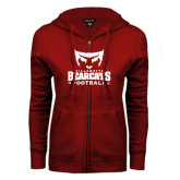 ENZA Ladies Cardinal Fleece Full Zip Hoodie-Football