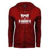 ENZA Ladies Cardinal Fleece Full Zip Hoodie-Basketball