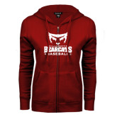 ENZA Ladies Cardinal Fleece Full Zip Hoodie-Baseball