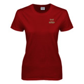 Ladies Cardinal T Shirt-Primary Logo