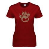 Ladies Cardinal T Shirt-Paw