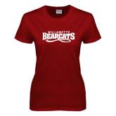 Ladies Cardinal T Shirt-Wordmark