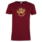 Ladies Cardinal T Shirt-Paw