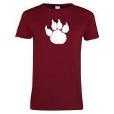 Ladies Cardinal T Shirt-Paw Silhouette