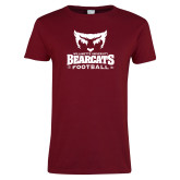 Ladies Cardinal T Shirt-Football