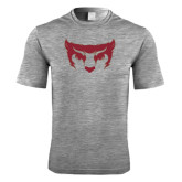 Performance Grey Heather Contender Tee-Bearcat Face
