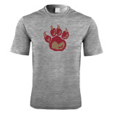 Performance Grey Heather Contender Tee-Paw