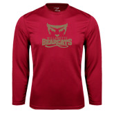 Syntrel Performance Cardinal Longsleeve Shirt-Primary Logo