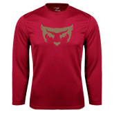 Syntrel Performance Cardinal Longsleeve Shirt-Bearcat Face