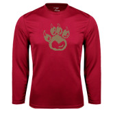 Syntrel Performance Cardinal Longsleeve Shirt-Paw