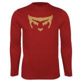 Performance Cardinal Longsleeve Shirt-Mascot