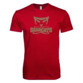 Next Level SoftStyle Cardinal T Shirt-Primary Logo