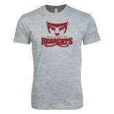Next Level SoftStyle Heather Grey T Shirt-Primary Logo