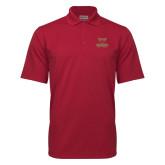 Cardinal Mini Stripe Polo-Primary Logo
