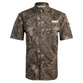 Camo Short Sleeve Performance Fishing Shirt-Wordmark