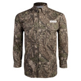 Camo Long Sleeve Performance Fishing Shirt-Wordmark