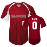 Replica Cardinal Adult Baseball Jersey-Personalized