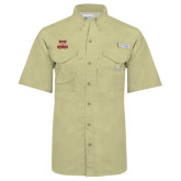 Columbia Bonehead Khaki Short Sleeve Shirt-Primary Logo