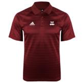 Adidas Climalite Cardinal Jaquard Select Polo-Primary Logo
