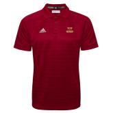 Adidas Climalite Cardinal Jacquard Select Polo-Primary Mark