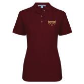 Ladies Easycare Cardinal Pique Polo-Mascot