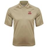 Vegas Gold Textured Saddle Shoulder Polo-Primary Logo