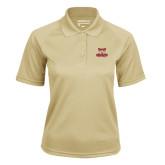 Ladies Vegas Gold Textured Saddle Shoulder Polo-Primary Logo