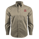Red House Tan Long Sleeve Shirt-Primary Logo