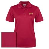 Ladies Cardinal Dry Mesh Polo-Mascot