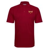 Cardinal Textured Saddle Shoulder Polo-Mascot