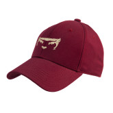 Cardinal Heavyweight Twill Pro Style Hat-Bearcat Face