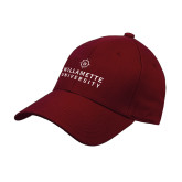 Cardinal Heavyweight Twill Pro Style Hat-University Mark