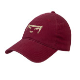 Cardinal Twill Unstructured Low Profile Hat-Bearcat Face