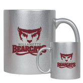 11oz Silver Metallic Ceramic Mug-Primary Logo