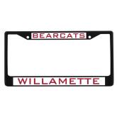 Metal License Plate Frame in Black-Bearcats