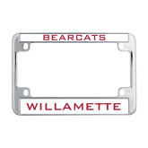Metal Motorcycle License Plate Frame in Chrome-Bearcats